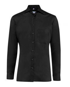 Premium herreskjorte alm. pasform skjorte, strygefri- sort - UDGÅR