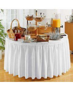 PORTO bordskørt i hvid - 490cm lang