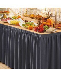PORTO bordskørt i mørk Koksgrå - 410cm lang