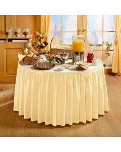PORTO bordskørt i Creme - 490cm lang