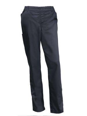 Dame Pull-on bukser Navy m. sidelomme - Nybo