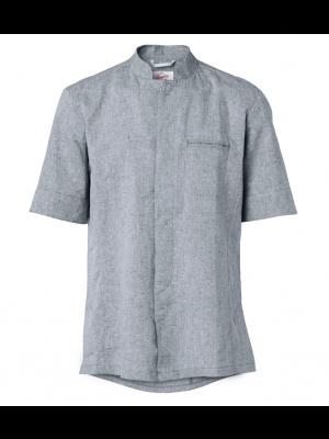 Segers Linen blå-grå melange kokkeskjorte