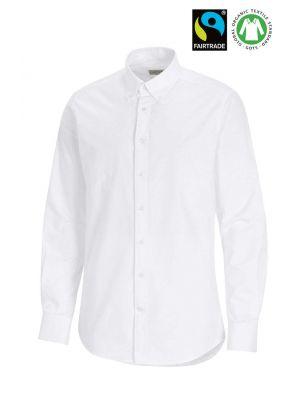 Fairtrade Organic bomulds Herreskjorte - Hvid