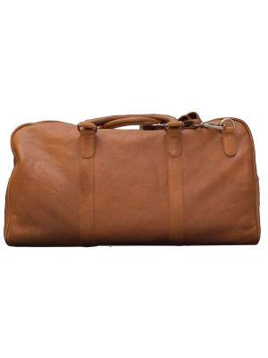 Cognac brun lædertaske