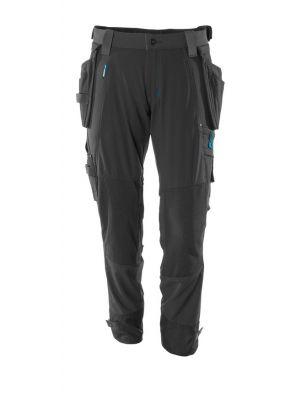 Sorte stretch Bukser med knæ- og hængelommer MASCOT® ADVANCED