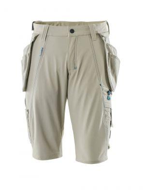 Lys Khaki Shorts m. stretch MASCOT® ADVANCED
