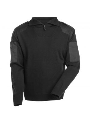 Striktrøje med kort lynlås forstærkninger - uld NANTERRE   MASCOT®