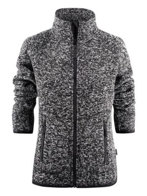 Koksgrå melange dame fleece trøje