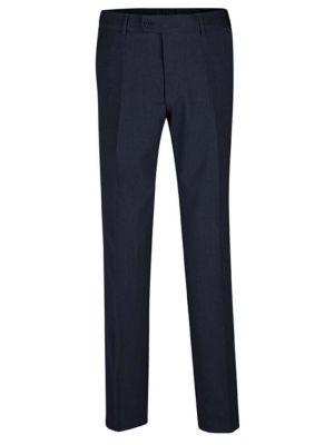 Premium Slimfit navy blå stretch herrebukser