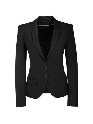 Blazer jakke Premium slimfit -stretch dame sort