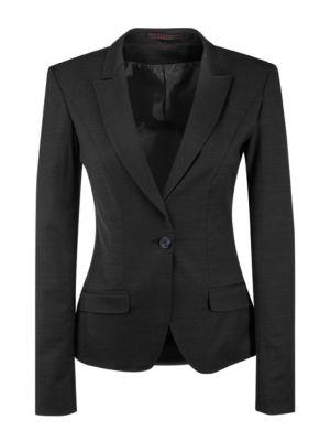 Modern 'slimfit' stretch dame blazer jakke, Sort - 36 - UDGÃ…R 1 stk