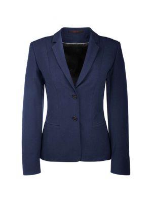 Marineblå dame blazer i alm. pasform