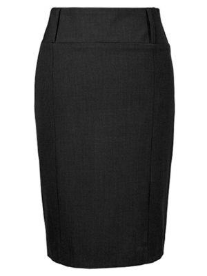 Sort nederdel med bred taljebånd - Premium