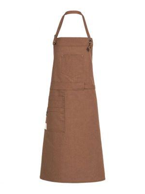 RUST farvet canvas forklæde m. lommer 'Fairtrade og genbrugs materiale'