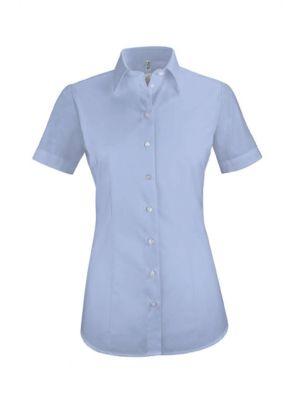 Lyseblå dameskjorte