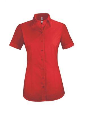 Rød tjenerskjorte