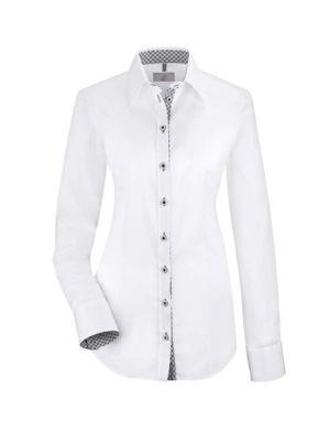 Elegant dameskjorte med kontrast -stretch RESTSALG - Udgår