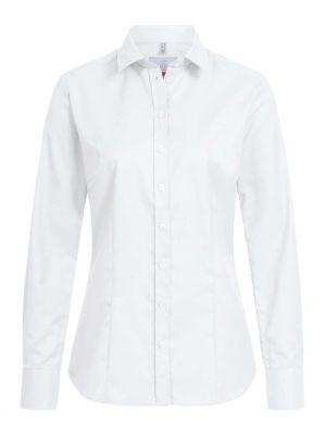 Hvid stretch dameskjorte Regular Fit - eksklusiv 'Modern 37.5'