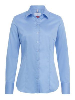 Lys blå stretch strygefri dameskjorte