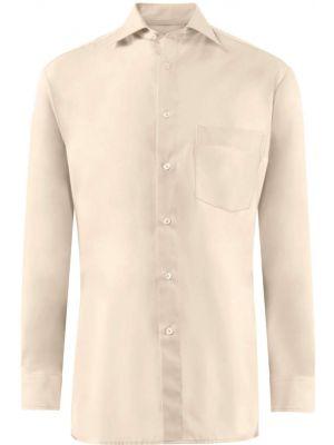 Easy care herre skjorte sandfarvet- 39/40 RESTSALG
