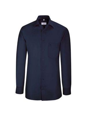 Premium navyfarvet strygefri skjorte - UDGÃ…R