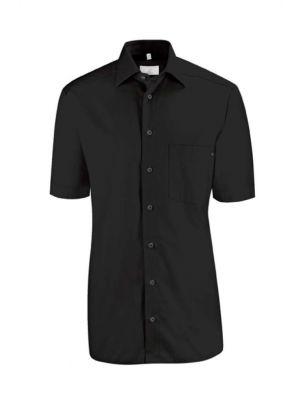 Sort kortærmet skjorte -stretch