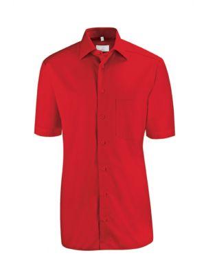 Rød herreskjorte
