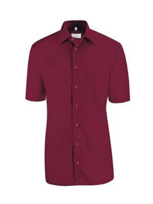 Bordeaux farvet herreskjorte