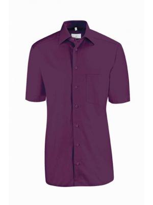 Brombær farvet herreskjorte
