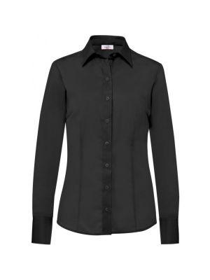 Sort dameskjorte i slimfit model str 48 -RESTSALG