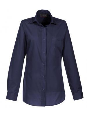Premium navy Strygefri dameskjorte - UDGÃ…R - str 42