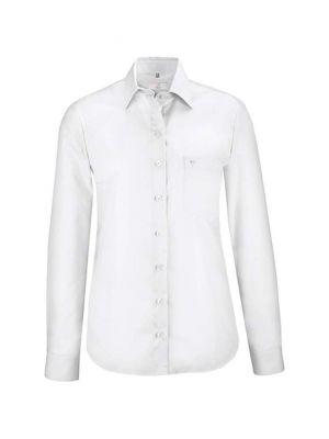 Hvid strygefri dameskjorte
