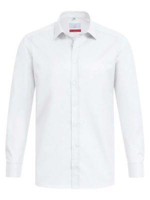 Stretch hvid skjorte til mænd - Ekslusiv 'Modern 37.5' Reg. Fit