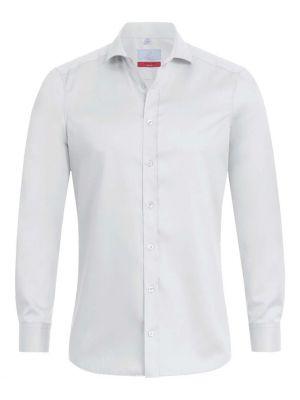 Premium hvid stretch herreskjorte i slimfit model -strygefri