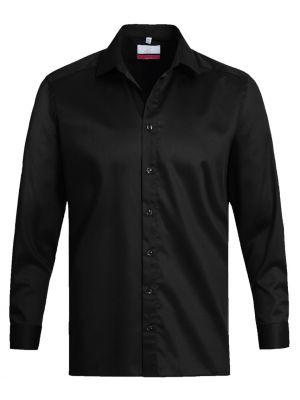 Sort stretch strygefri herreskjorte