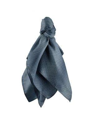 Blå/grå ternet dame sjal
