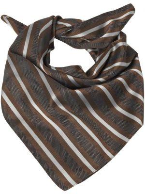 Dame Tørklæde / sjal brun stribet