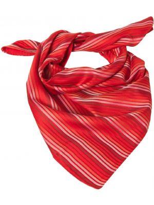 Dame Tørklæde / sjal rød-hvid stribet
