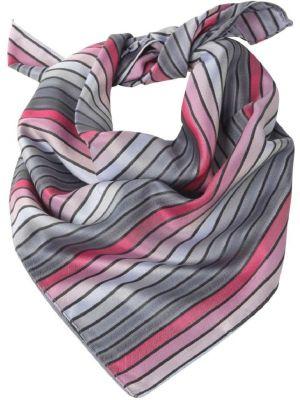 Dame Tørklæde / sjal rose-anthra stribet