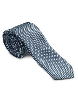 Blå og grå ternet slips