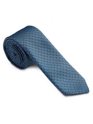 Blå designet slips