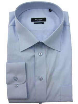 Bosweel skjorte lys blå slim-fit, 100% bomuld.