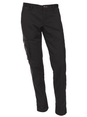 Sorte cargo bukser med lårlomme