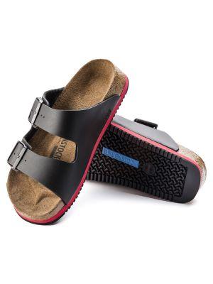 Sort og Rød Birkenstock Arizona sandal Blød fodseng skridsikker