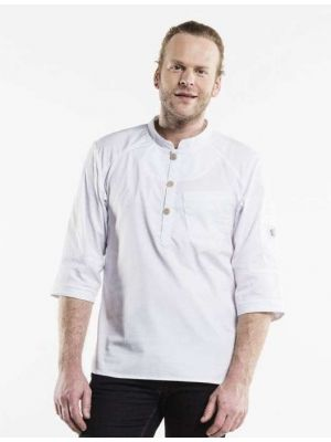 Bujutsu  - Hvid kokkeskjorte