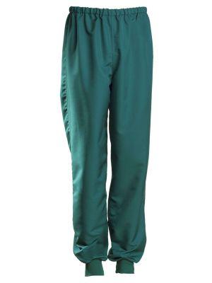 Grøn UNISEX-BUKS, Rib ved buksekant - NYBO