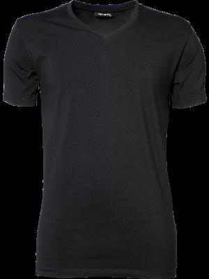 Sort strech t-shirt til mænd