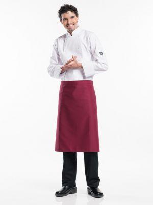 Burgundy farvet forstykke 70cm langt BSX