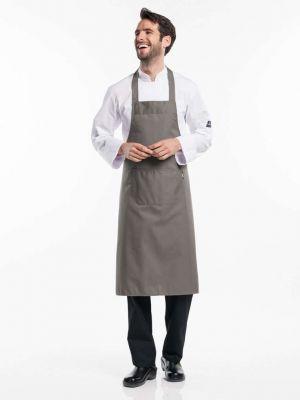 Khaki forklæde med påsyet lomme BSX