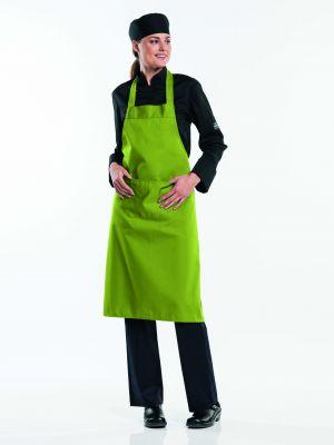 Oliven farvet forklæde med lomme BSX